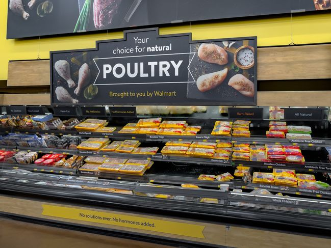 poultry department at Walmart