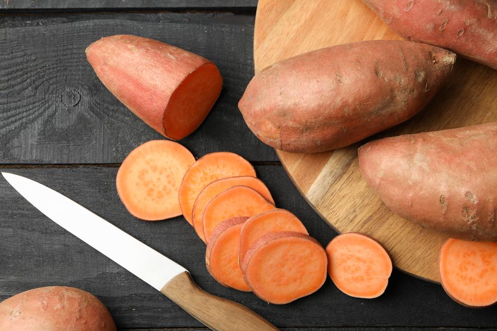 unpeeled sweet potatoes